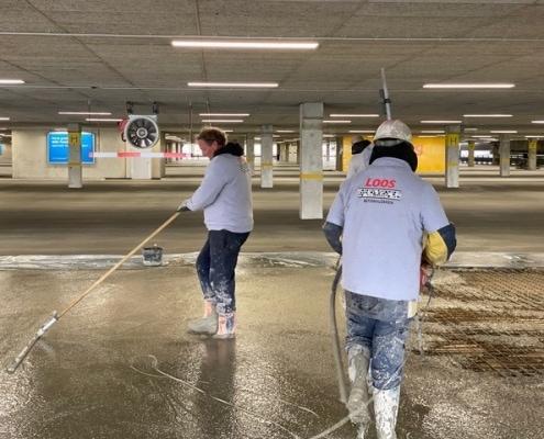 Vernieuwen betonvloer parkeergarage - Loos Betonvloeren Zuid